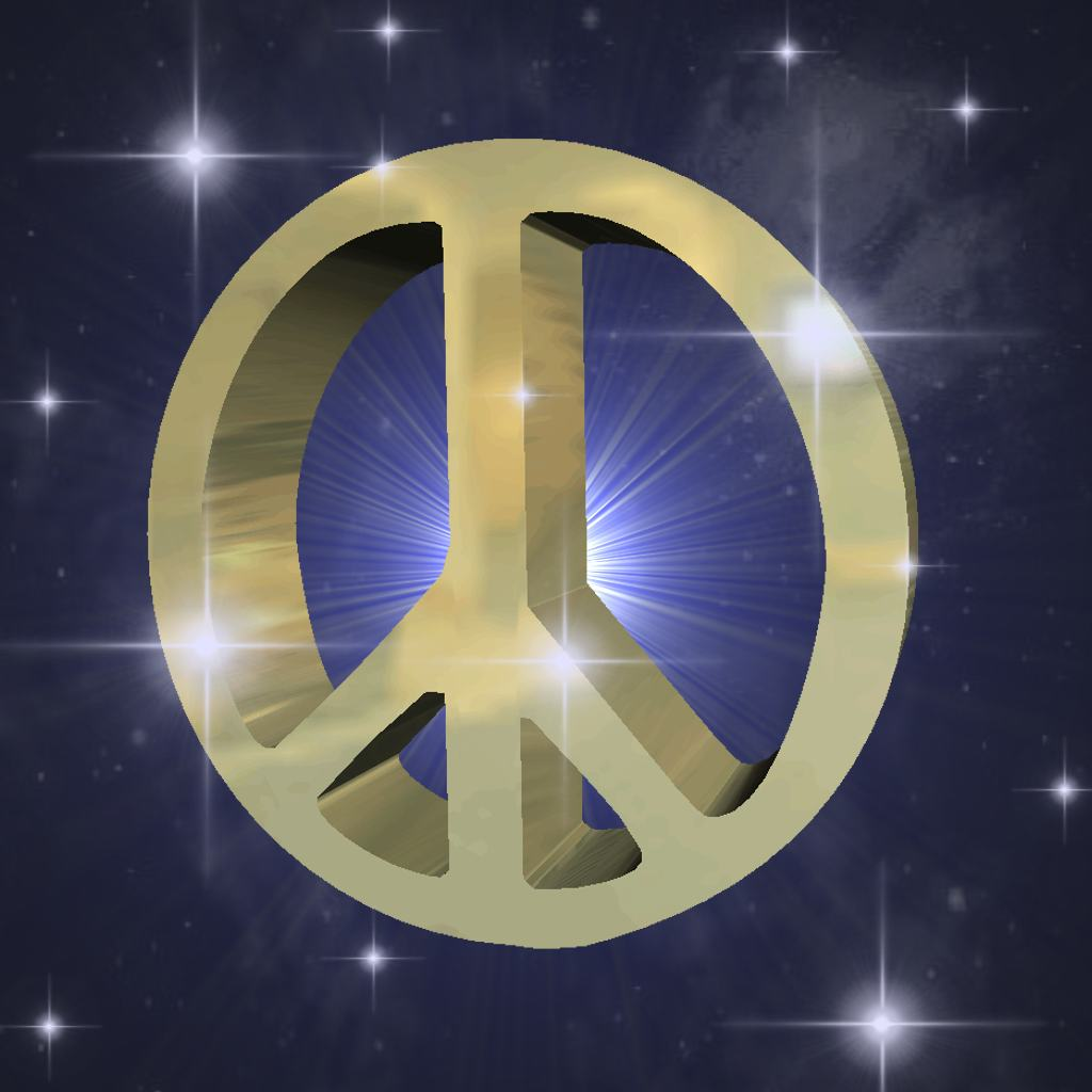 Click to get the codes for this image. Gold Peace Sign In Starry Sky, Peace Signs, Signs  Symbols Background, wallpaper or texture for, Blogger, Wordpress, or any web page, blog, desktop or phone.
