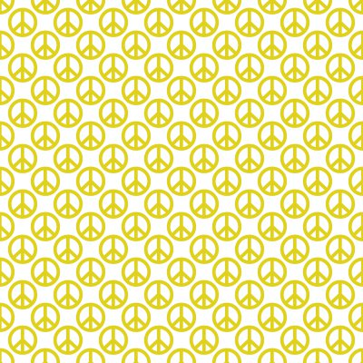 Click to get the codes for this image. Gold Peace Signs On White Background Seamless, Peace Signs, Colors  Yellow and Gold Background, wallpaper or texture for Blogger, Wordpress, or any phone, desktop or blog.