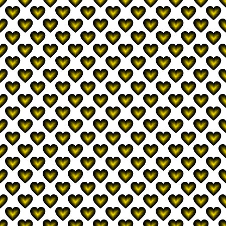 Click to get the codes for this image. Gold Satin Hearts On White Background Seamless, Hearts, Colors  Yellow and Gold Background, wallpaper or texture for, Blogger, Wordpress, or any web page, blog, desktop or phone.