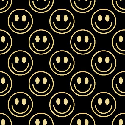 Click to get the codes for this image. Gold Smiley Faces On Black Background Seamless, Smiley Faces, Colors  Yellow and Gold Background, wallpaper or texture for Blogger, Wordpress, or any phone, desktop or blog.