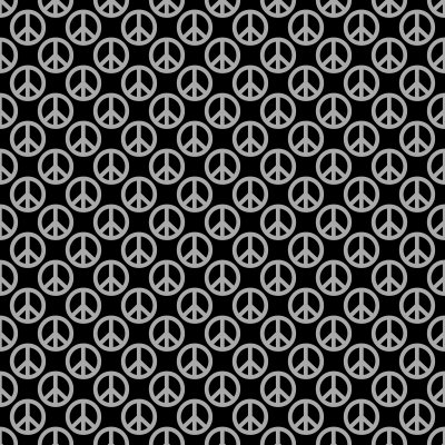 Click to get the codes for this image. Gray Peace Signs On Black Background Seamless, Peace Signs, Colors  Grey and Monochrome Background, wallpaper or texture for Blogger, Wordpress, or any phone, desktop or blog.