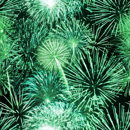 Click to get the codes for this image. Green Fireworks Tiled Background, Fourth of July, Holidays  New Years,  New Backgrounds, Fireworks, Colors  Green Background, wallpaper or texture for, Blogger, Wordpress, or any web page, blog, desktop or phone.