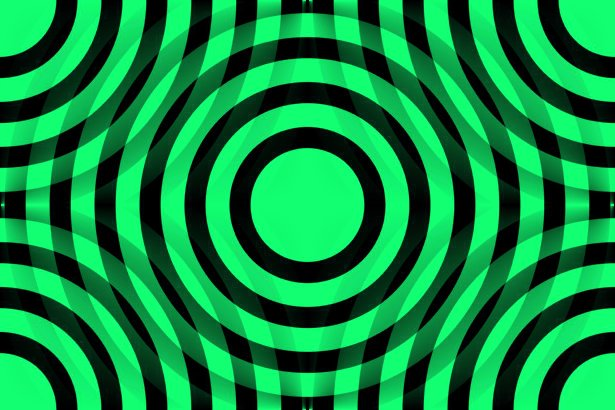 Click to get the codes for this image. Green And Black Interlocking Concentric Circles, Patterns  Circles and Polkadots, Colors  Green Background, wallpaper or texture for Blogger, Wordpress, or any phone, desktop or blog.