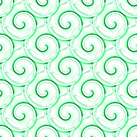 Click to get the codes for this image. Green And White Spirals, Patterns  Spirals and Swirls, Colors  Green Background, wallpaper or texture for Blogger, Wordpress, or any phone, desktop or blog.
