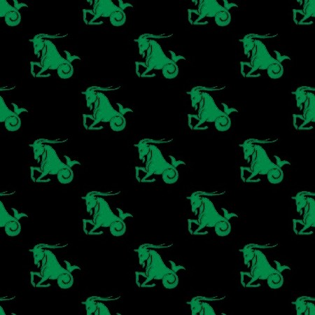 Click to get the codes for this image. Green Capricorn Astrology On Black, Astrology  Zodiac Symbols Background, wallpaper or texture for, Blogger, Wordpress, or any web page, blog, desktop or phone.