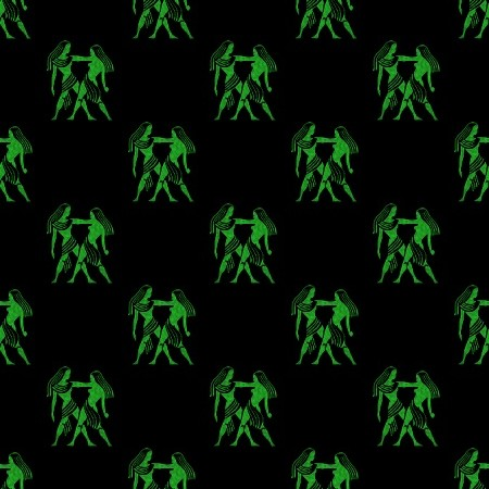 Click to get the codes for this image. Green Gemini Astrology On Black, Astrology  Zodiac Symbols Background, wallpaper or texture for, Blogger, Wordpress, or any web page, blog, desktop or phone.