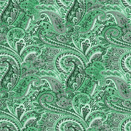 Group Of Green Paisley Wallpaper