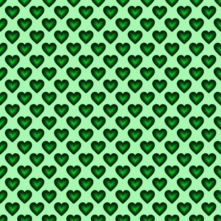 Click to get the codes for this image. Green Satin Hearts Background Seamless, Hearts, Colors  Green Background, wallpaper or texture for, Blogger, Wordpress, or any web page, blog, desktop or phone.