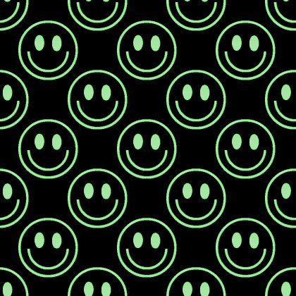 Click to get the codes for this image. Green Smiley Faces On Black Background Seamless, Smiley Faces, Colors  Green Background, wallpaper or texture for Blogger, Wordpress, or any phone, desktop or blog.