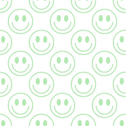 Click to get the codes for this image. Green Smiley Faces On White Background Seamless, Smiley Faces, Colors  Green Background, wallpaper or texture for Blogger, Wordpress, or any phone, desktop or blog.