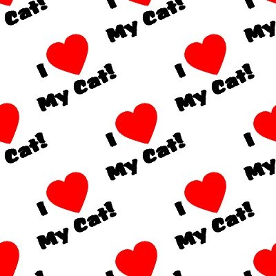 Click to get the codes for this image. I Heart My Cat Seamless Wallpaper On White, Animals  Cats Background, wallpaper or texture for any blog, web page, phone or desktop