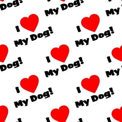 Click to get the codes for this image. I Heart My Dog Seamless Wallpaper On White, Animals  Dogs Background, wallpaper or texture for any blog, web page, phone or desktop