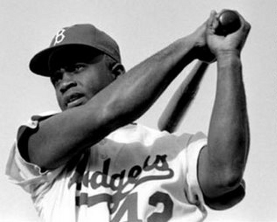 Click to get the codes for this image. Jackie Robinson With Baseball Bat, Sports and Athletics Background, wallpaper or texture for any blog, web page, phone or desktop