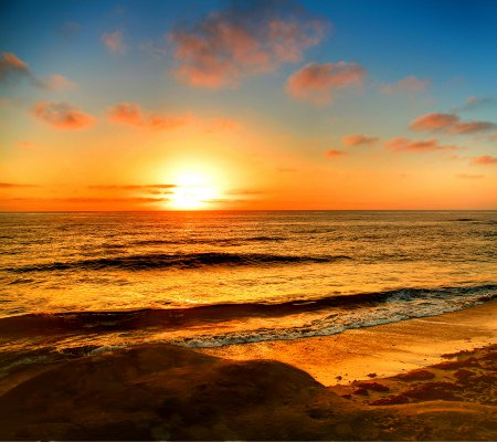 Click to get the codes for this image. La Jolla Beach Sunset Background 1800x1600, Ocean  Water, Sunsets and Sunrises Background, wallpaper or texture for any blog, web page, phone or desktop