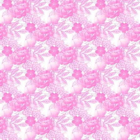 Light Pink And White Floral Pattern Background Image ...
