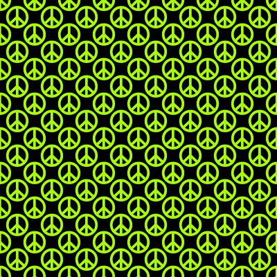 Click to get the codes for this image. Lime Green Peace Signs On Black Background Seamless, Peace Signs, Colors  Green Background, wallpaper or texture for Blogger, Wordpress, or any phone, desktop or blog.