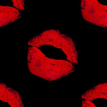 Click to get the codes for this image. Lips On Black, Lips and Kisses, Colors  Red Background, wallpaper or texture for, Blogger, Wordpress, or any web page, blog, desktop or phone.