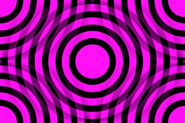Click to get the codes for this image. Magenta And Black Interlocking Concentric Circles, Patterns  Circles and Polkadots, Colors  Pink Background, wallpaper or texture for Blogger, Wordpress, or any phone, desktop or blog.