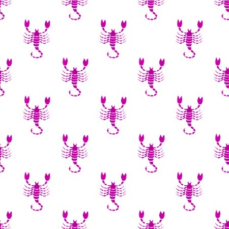 Click to get the codes for this image. Magenta Scorpio Astrology On White, Astrology  Zodiac Symbols Background, wallpaper or texture for, Blogger, Wordpress, or any web page, blog, desktop or phone.