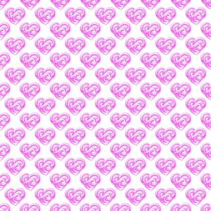 Click to get the codes for this image. Magenta Swirley Hearts On White, Holidays  Valentines Day, Hearts, Colors  Pink Background, wallpaper or texture for, Blogger, Wordpress, or any web page, blog, desktop or phone.