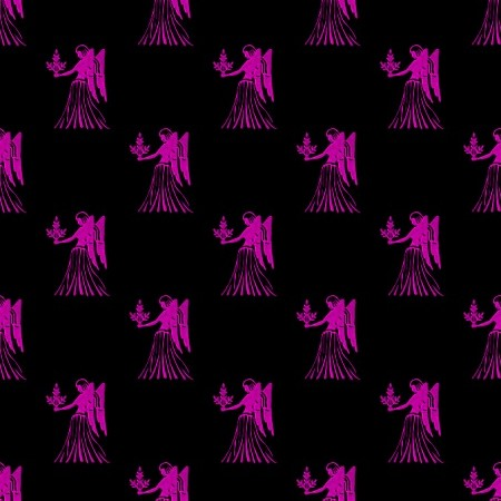 Click to get the codes for this image. Magenta Virgo Astrology On Black, Astrology  Zodiac Symbols Background, wallpaper or texture for, Blogger, Wordpress, or any web page, blog, desktop or phone.