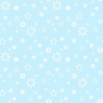 mini white snowflakes on light blue background image