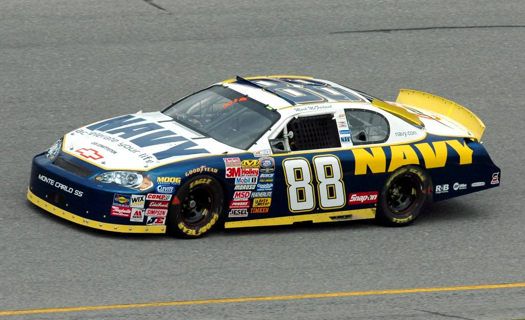 Click to get the codes for this image. Navy Nascar Race Car, Cars Boats Trains etc Background, wallpaper or texture for any blog, web page, phone or desktop