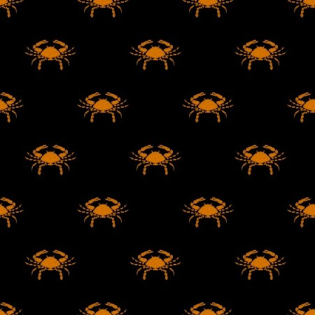 Click to get the codes for this image. Orange Cancer Astrology On Black, Astrology  Zodiac Symbols Background, wallpaper or texture for, Blogger, Wordpress, or any web page, blog, desktop or phone.