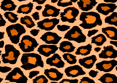 Orange Leopard PrintOrange Animal Print