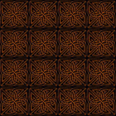 Click to get the codes for this image. Orange On Black Celtic Squares Seamless Background Pattern, Patterns  Celtic, Colors  Orange, Ornate Background, wallpaper or texture for, Blogger, Wordpress, or any web page, blog, desktop or phone.