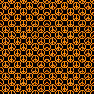 Click to get the codes for this image. Orange Peace Signs On Black Background Seamless, Peace Signs, Colors  Orange Background, wallpaper or texture for Blogger, Wordpress, or any phone, desktop or blog.