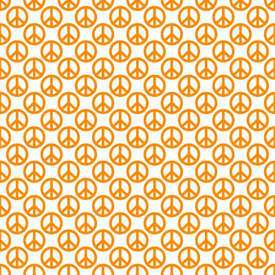 Click to get the codes for this image. Orange Peace Signs On White Background Seamless, Peace Signs, Colors  Orange Background, wallpaper or texture for Blogger, Wordpress, or any phone, desktop or blog.