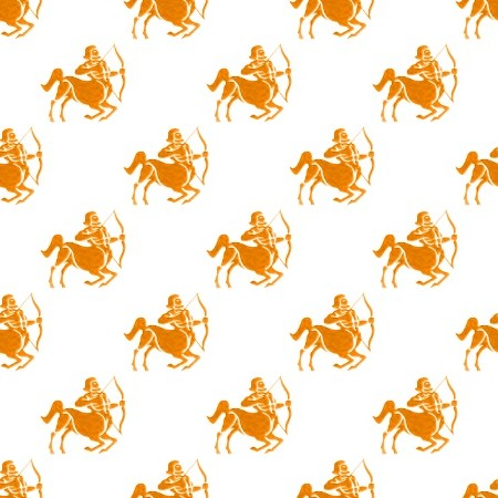 Click to get the codes for this image. Orange Sagittarius Astrology On White, Astrology  Zodiac Symbols Background, wallpaper or texture for, Blogger, Wordpress, or any web page, blog, desktop or phone.