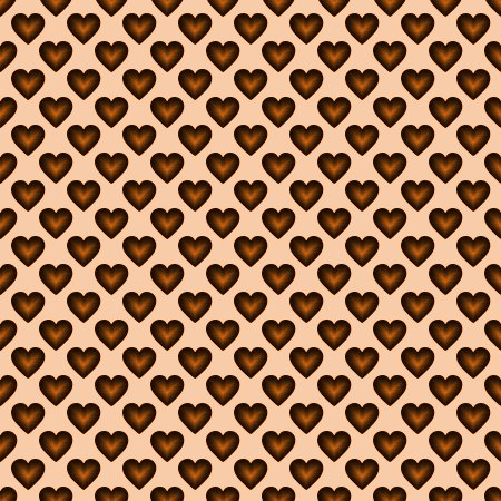 Click to get the codes for this image. Orange Satin Hearts Background Seamless, Hearts, Colors  Orange Background, wallpaper or texture for, Blogger, Wordpress, or any web page, blog, desktop or phone.