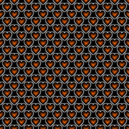 Click to get the codes for this image. Orange Satin Hearts On Black Background Seamless, Colors  Orange, Hearts Background, wallpaper or texture for, Blogger, Wordpress, or any web page, blog, desktop or phone.