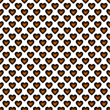 Click to get the codes for this image. Orange Satin Hearts On White Background Seamless, Hearts, Colors  Orange Background, wallpaper or texture for, Blogger, Wordpress, or any web page, blog, desktop or phone.