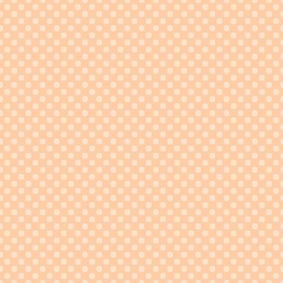 Peach Mini Dots On Light Orange