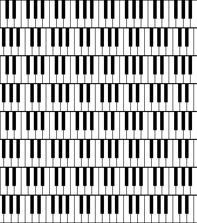 Click to get the codes for this image. Piano Keyboards Background Seamless, Music and Musical Instruments, Colors  Black and White Background, wallpaper or texture for Blogger, Wordpress, or any phone, desktop or blog.