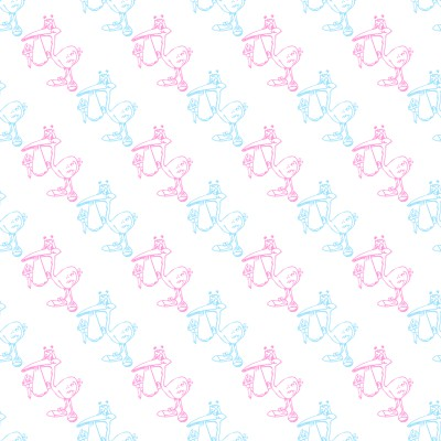 Click to get the codes for this image. Pink And Blue Storks With Babies Background Seamless, Babies  Maternity Background, wallpaper or texture for any blog, web page, phone or desktop