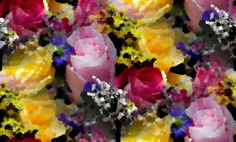 Click to get the codes for this image. Pink And Yellow Roses Seamless Painting, Flowers  Floral Designs Background, wallpaper or texture for any blog, web page, phone or desktop