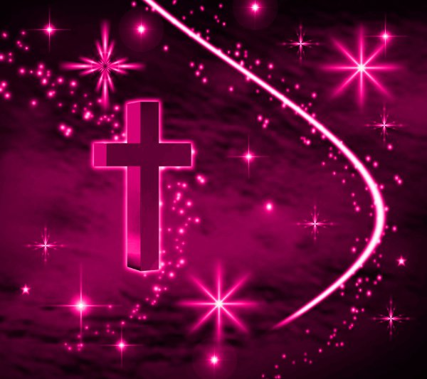 Pink Cross With Stars Background 1800x1600 Background ...