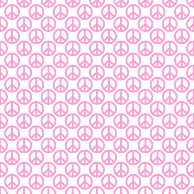 Click to get the codes for this image. Pink Peace Signs On White Background Seamless, Peace Signs, Colors  Pink Background, wallpaper or texture for Blogger, Wordpress, or any phone, desktop or blog.