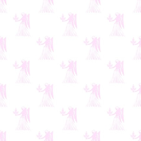 Click to get the codes for this image. Pink Virgo Astrology Watermark On White, Astrology  Zodiac Symbols Background, wallpaper or texture for, Blogger, Wordpress, or any web page, blog, desktop or phone.
