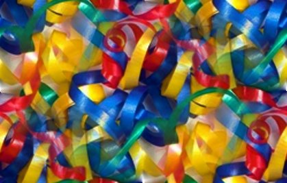 Click to get the codes for this image. Primary Colors Curly Ribbon Seamless Photo, Ribbons and Bows Background, wallpaper or texture for, Blogger, Wordpress, or any web page, blog, desktop or phone.