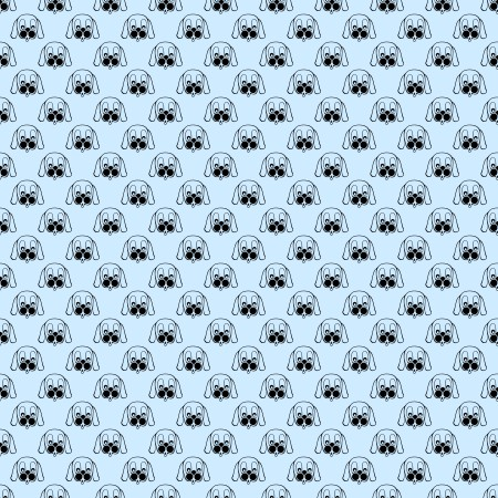 Click to get the codes for this image. Puppy Faces On Baby Blue Background Seamless, Animals  Dogs, Colors  Blue Background, wallpaper or texture for Blogger, Wordpress, or any phone, desktop or blog.