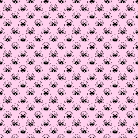 Click to get the codes for this image. Puppy Faces On Pink Background Seamless, Animals  Dogs, Colors  Pink Background, wallpaper or texture for Blogger, Wordpress, or any phone, desktop or blog.