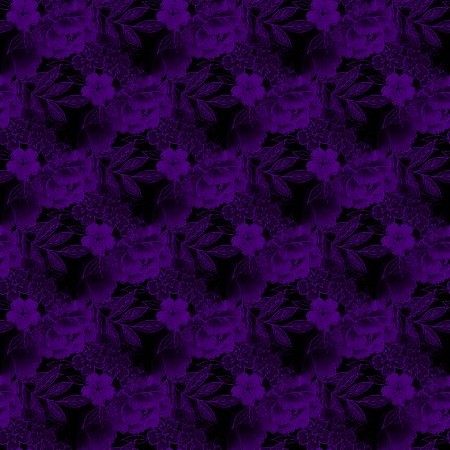 Click to get the codes for this image. Purple And Black Floral, Flowers  Floral Designs, Colors  Purple, Colors  Dark and Black Background, wallpaper or texture for Blogger, Wordpress, or any phone, desktop or blog.