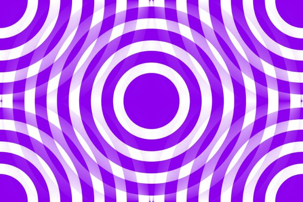 Click to get the codes for this image. Purple And White Interlocking Concentric Circles, Patterns  Circles and Polkadots, Colors  Purple Background, wallpaper or texture for Blogger, Wordpress, or any phone, desktop or blog.