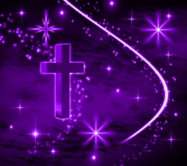 Click to get the codes for this image. Purple Cross With Stars Background 1800x1600, Christian, Colors  Purple Background, wallpaper or texture for, Blogger, Wordpress, or any web page, blog, desktop or phone.