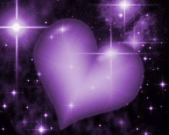 Click to get the codes for this image. Purple Heart With Starry Background, Colors  Purple, Hearts Background, wallpaper or texture for, Blogger, Wordpress, or any web page, blog, desktop or phone.